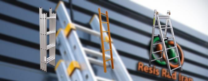 بنر فروش خرید نردبان آلومینیومی سبک مقاوم مخابراتی 12پله - گالری تولیدات