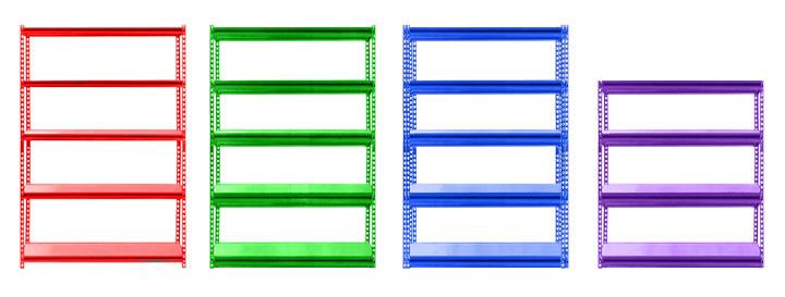 بنر قفسه انبار قفسه پیچ مهره ای قفسه بندی سبک - راهنمای خرید قفسه فلزی