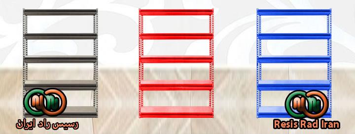 فروش خرید قفسه پیچ مهره ای طوسی رنگی نبشی صفحه قفسه انبار انباری قفسه خارجی فاق بلند - قفسه بندی سبک انبار (پیچ و مهره ای)