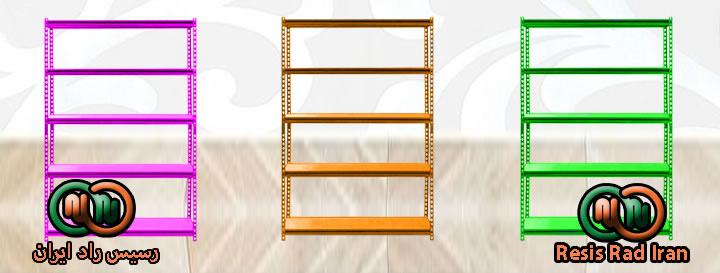 فروش خرید قفسه پیچ مهره ای طوسی 1رنگی نبشی صفحه قفسه انبار انباری - قفسه بندی سبک انبار (پیچ و مهره ای)