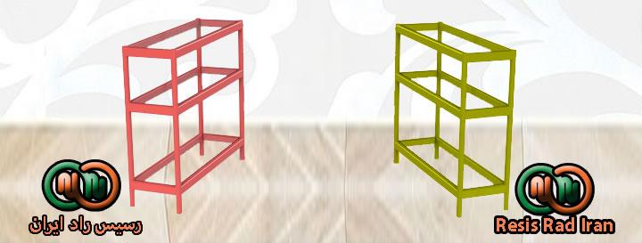 فروش ویترین پیشخوان سه طبقه یک متری یک و نیم متری دو متری قرمز زرد - ویترین