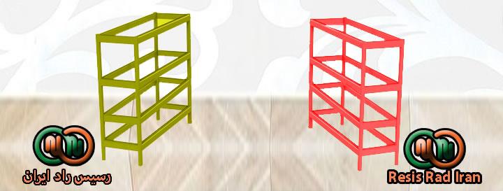 فروش ویترین پیشخوان چهار طبقه یک متری یک و نیم متری دو متری قرمز زرد - ویترین