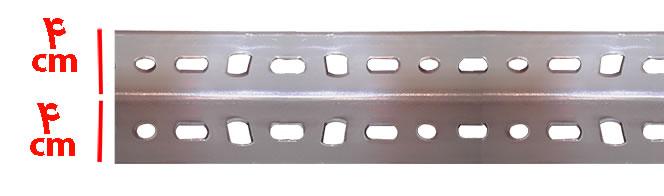 نبشی پیچ و1 مهره ای چهار در چهار - راهنمای خرید قفسه انبار (پیچ و مهره ای )